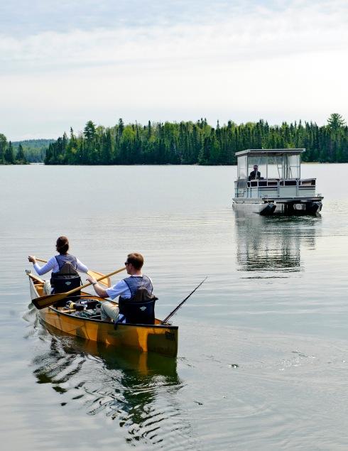 Pontoon and canoe