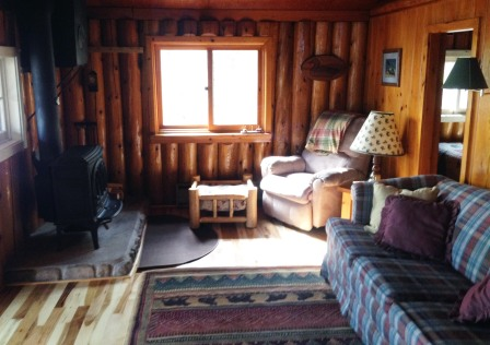 Cabin One: Fireplace
