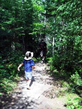 Back trail hiking