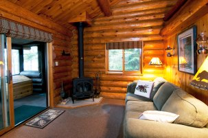 Cabin Three: Fireplace