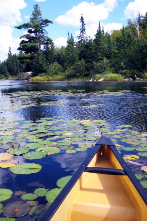 Canoeing the back lakes