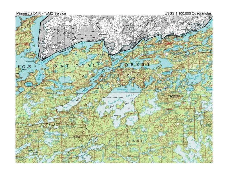 Snowbank Area Map