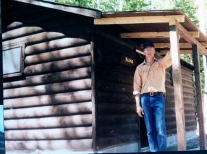 1991, Lee and the new roof addition